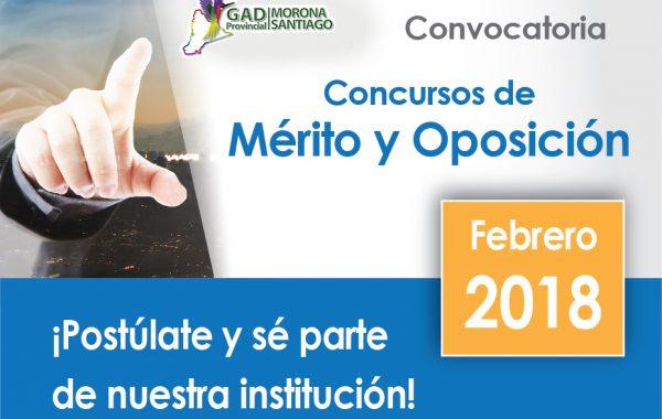 Invitación a Concurso de Méritos y Oposición 2018