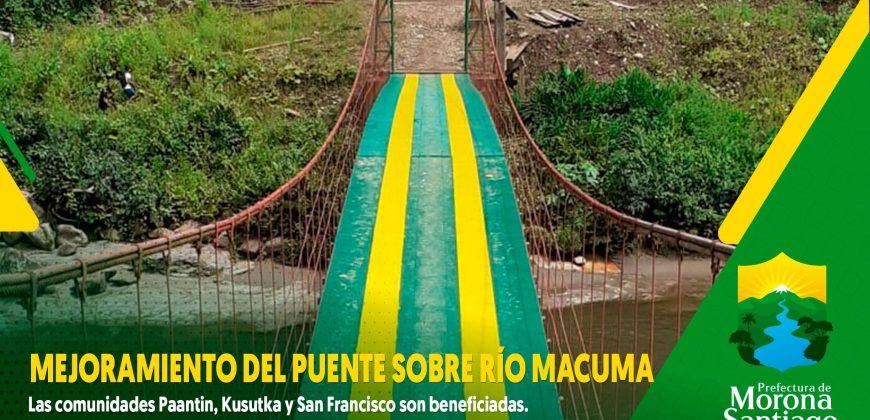 Puente sobre el Río Macuma – Comunidades Paantin, Kusutka, San Francisco, etc.