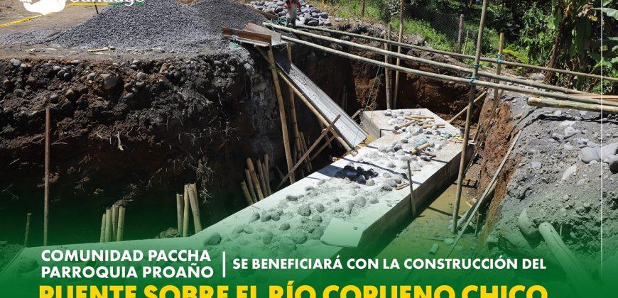 Puente sobre el Río Copueno Chico paso a Paccha – Proaño, 20% de avance