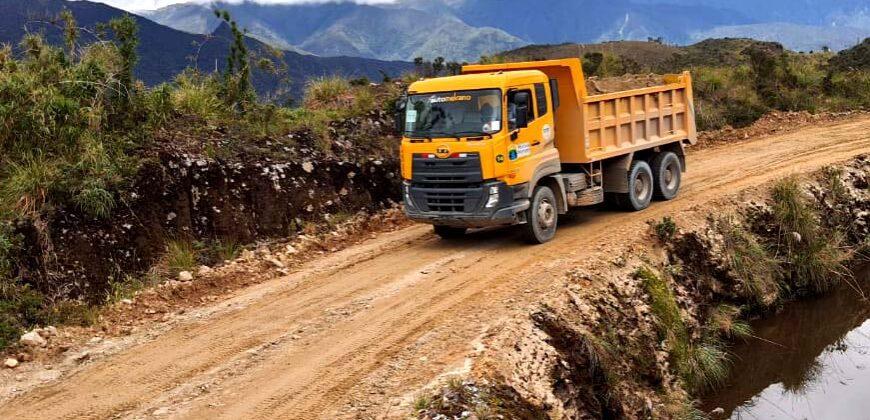 Mantenimiento vial del proyecto Cerro Moriré – Parroquia Amazonas